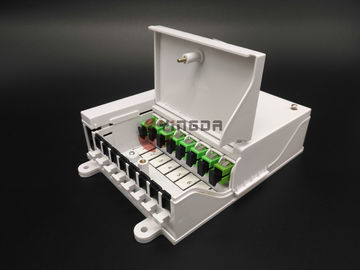 Single Mode Fiber Optic Distribution Box FTTH SC Connectors 1*8 Optical Splitter 900um
