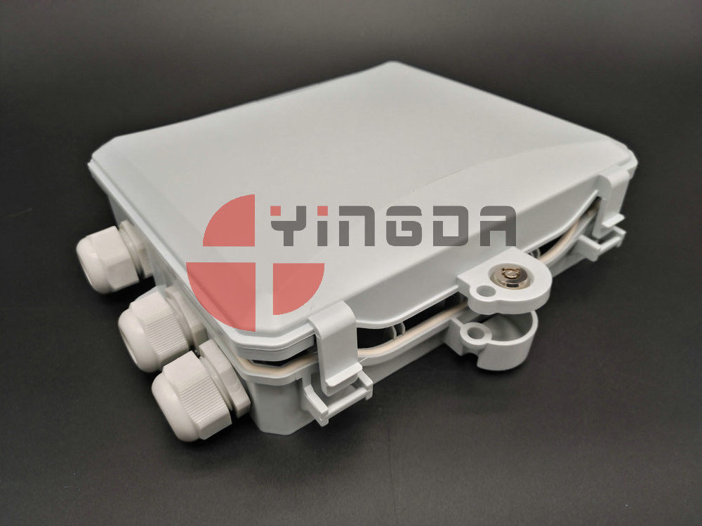 Outdoor Optical Terminal Box 1x12 PLC splitter , 12 Cores 3Ports Fiber Distribution Box IP65